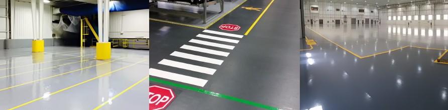color on esd floor